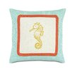 Eastern Accents Tropical Sunny Seahorse Pillow