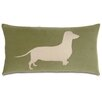 Eastern Accents Pets Dacshund in the Grass Pillow
