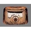 "Bates & Bates Sculptured Metals 14"" x 12.25"" Hammertone Rectangular Bar Sink"