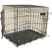 Dog Collapsible Crate Metal Tray in Black Bono Fido