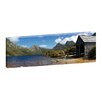 <strong>Andrew Brown Summer Boatshed Framed Canvas Print</strong> by Artist Lane
