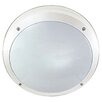 Two Light Round Outdoor Fluorescent Bulkhead Crompton Lighting