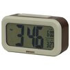 Digital Alarm Clock in Brown / Ivory Dulton