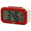 Digital Alarm Clock in Ivory / Red Dulton