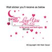 <strong>We Love You to The Moon and Back DIY Removable Wall Decal</strong> by HM Wall Decal