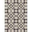 Chandra Rugs Davin White / Grey Geometric Rug