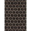 Chandra Rugs Davin Black Geometric Rug