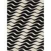 Chandra Rugs INT Abstract Beige/Black Area Rug