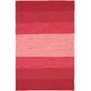 Chandra Rugs India Red Striped Area Rug