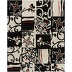 Chandra Rugs Hanu Black/Ivory Geometric Area Rug