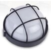 Bunker Large Round Caged Exterior Light in Australian Powder Coat Hermosa