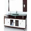 Single Glass 100cm Top Vanity Set with Mixer and Mirror Innova Australia