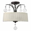 <strong>Fredrick Ramond</strong> Prosecco 3 Light Foyer Semi Flush Mount