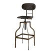 Hokku Designs Mylene Adjustable Height Swivel Bar Stool