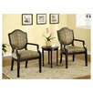 Bernetta 3 Piece Cotton Arm Chair and Side Table Set