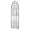 Nouveau-Leaf Wrought Iron Trellis