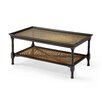 Island Retreat Coffee Table with Rattan and Glass Insert
