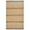 <strong>Aspro Grey / Natural Stripe Rug</strong> by Kosas Home