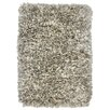 Kosas Home Elegante Light Grey Shag Area Rug