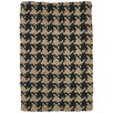 Kosas Home Dogtooth Handspun Jute Black Area Rug