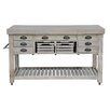 Kosas Home Linley Kitchen Island with Blue Stone Top