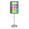 "<strong>Lamp-In-A-Box</strong> Artist Budi Satria Kwan ""Peace and Love"" 20"" H Table Lamp with Drum Shade"