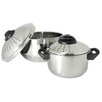<strong>Prime Pacific</strong> Stainless Steel Pasta Pots with Locking Lid (Set of 2)