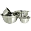 <strong>Prime Pacific</strong> Euro Style 4-Piece Stainless Steel Mixing Bowl Set