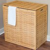 BirdRock Home Oversized Bamboo Divided Hamper