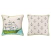 <strong>Sarah Watts</strong> Ocean Reversible Printed and Embroidered Pillow