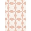 Bunny Williams for Dash and Albert Lucy Pink/White Graphic Indoor/Outdoor Area Rug