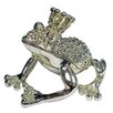 <strong>Cristiani Collezione</strong> Crystal Paved Rhodium Plated Frog Prince Keepsake Box