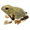Cristiani Collezione Crystal Paved 24KT Gold Plated Frog Keepsake Box