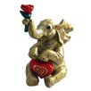 Cristiani Collezione 24KT Gold Plated Elephant with Heart Keepsake Box