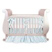 Little Crown Interiors Silk 3 Piece Crib Bedding Set with Bows