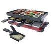 Swissmar 8 Person Classic Raclette Party Grill with Reversible Cast Iron Grill Plate