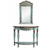 Stein World Demilune Console Table and Mirror Set