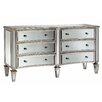 Stein World Fair Haven Bow Front 6 Drawer Mirrored Chest