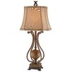 "Stein World Scroll 34.25"" H Table Lamp with Bell Shade"