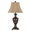 """Stein World Open Work 33"""" H Table Lamp with Bell Shade (Set of 2)"""