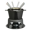 <strong>KitchenCraft</strong> Master Class Cast Iron Enameled Fondue Gift Set in Black