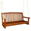 <strong>International Caravan</strong> Royal Tahiti Balau Hardwood 3-Seater Porch Swing