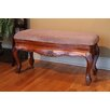 <strong>Windsor Hand Carved Vanity Bench</strong> by International Caravan
