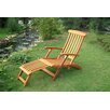 <strong>International Caravan</strong> Royal Tahiti Balau Folding Patio Steamer Lounge Chair