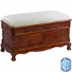 <strong>Windsor Hand Carved Wood Storage Bench</strong> by International Caravan