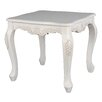 <strong>International Caravan</strong> Windsor Antique White Hand Carved End Table