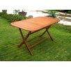 International Caravan Royal Tahiti Balau Outdoor Folding Dining Table