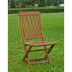 <strong>International Caravan</strong> Highland Acacia Folding Patio Chair (Set of 2)