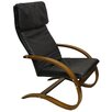 International Caravan Stockholm Contemporary Faux Leather Lounge Chair