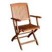 <strong>International Caravan</strong> Royal Tahiti Balau Folding Patio Chair (Set of 2)